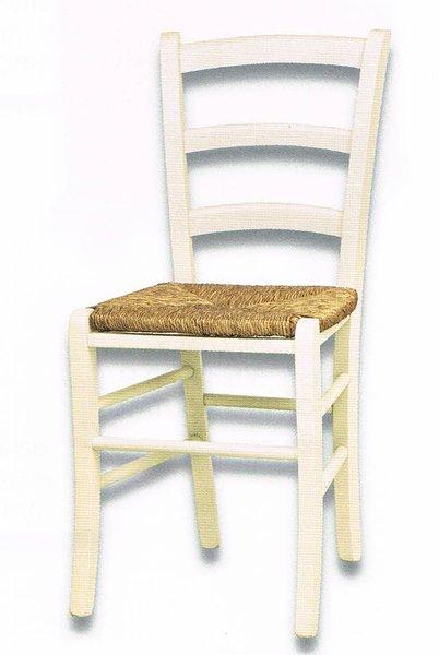 Sedia bianca impagliata bricowood net - Sedia bianca legno ...