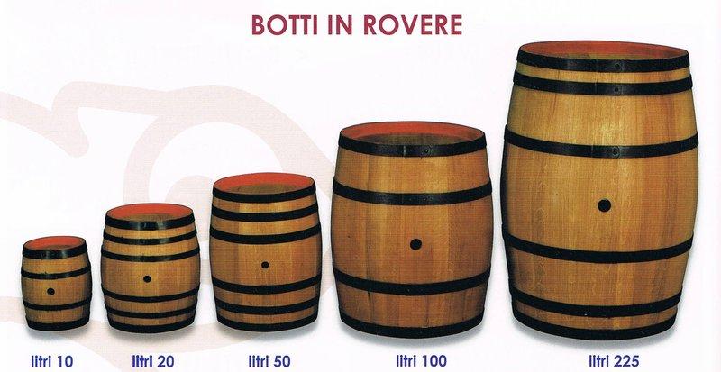 Botte rovere 225 bricowood net for Botti in legno per arredamento